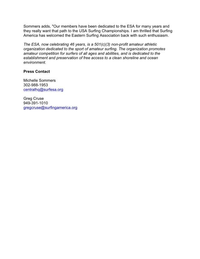 SA & ESA Press Release 2