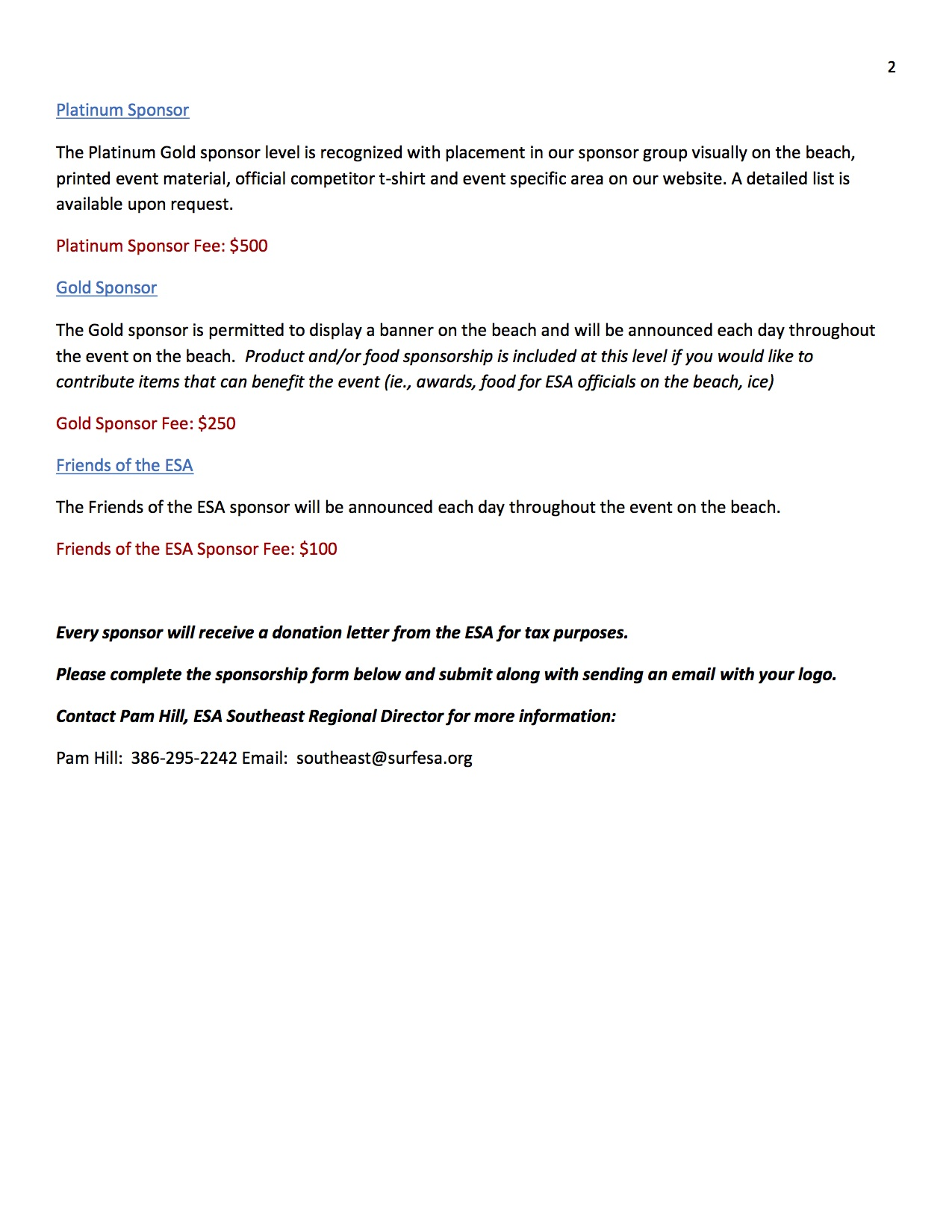 2014 SE Sponsorship letter p2